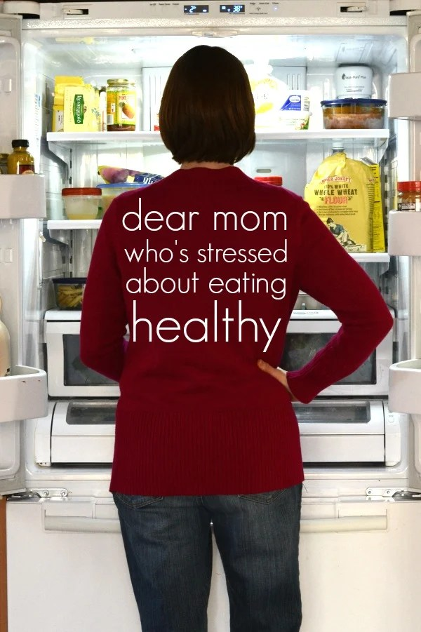 Stress about healthy eating can be more damaging than junk food. These tips will help minimize stress for anyone trying to eat a healthy, whole food diet.