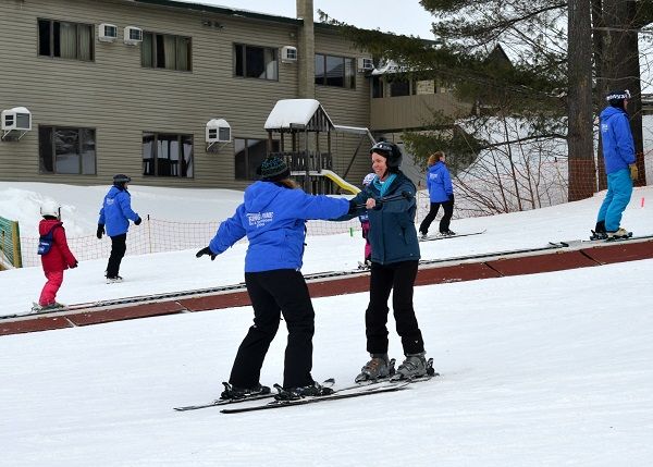 King Pine Ski Area in Mount Washington Valley, NH has great ski lessons, even for old ladies like me!