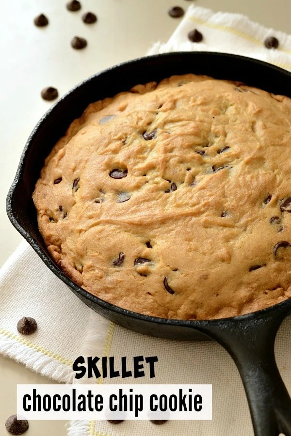 This cast iron skillet chocolate chip cookie recipe is a delicious dessert that you can enjoy without the guilt. Healthy ingredients make this a fun family treat.