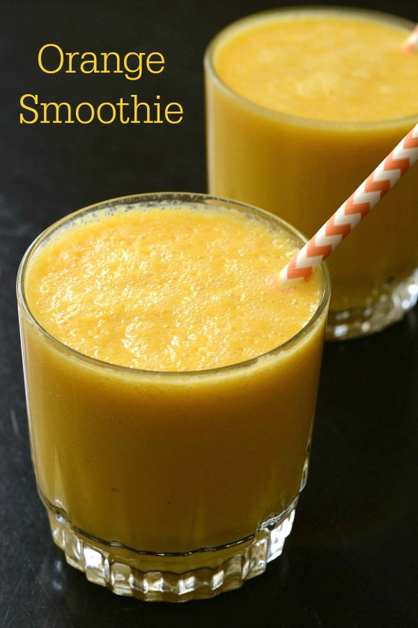 Try this orange smoothie recipe for a bright, delicious drink at breakfast or snack time. It's easy to make and so healthy!