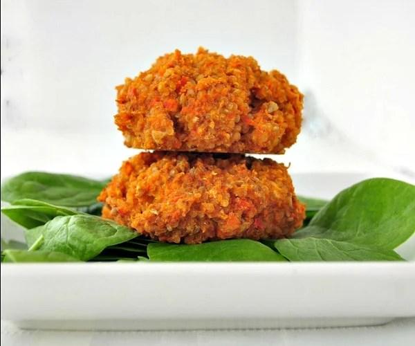 Quinoa Veggie Burgers, a frugal vegan recipe