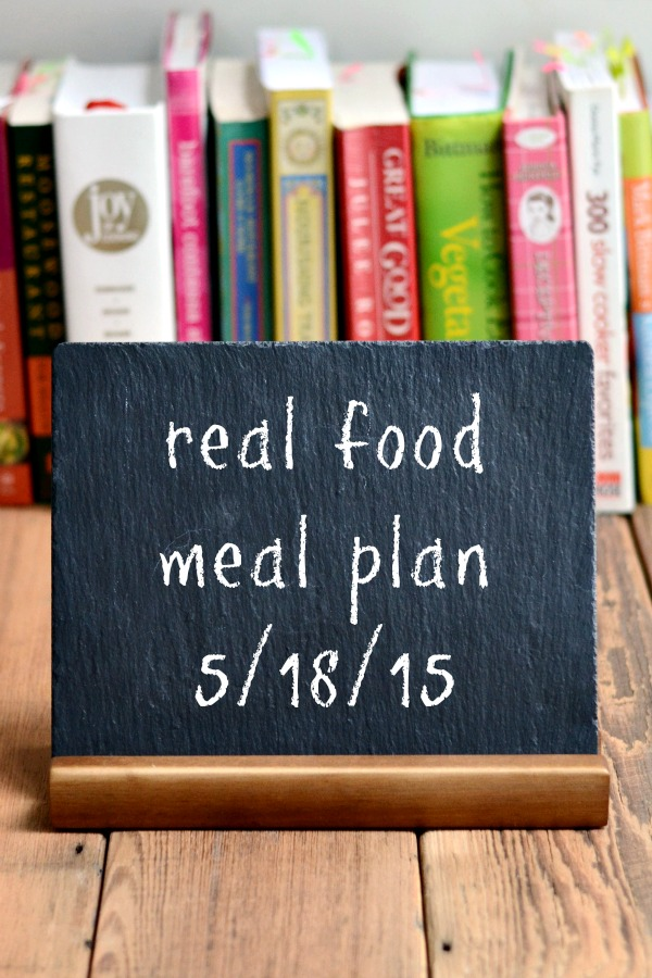 Real Food Meal Plan Week 65 includes healthy dinner recipes for the warm weather, like burgers on the grill and a refreshing black bean salad.