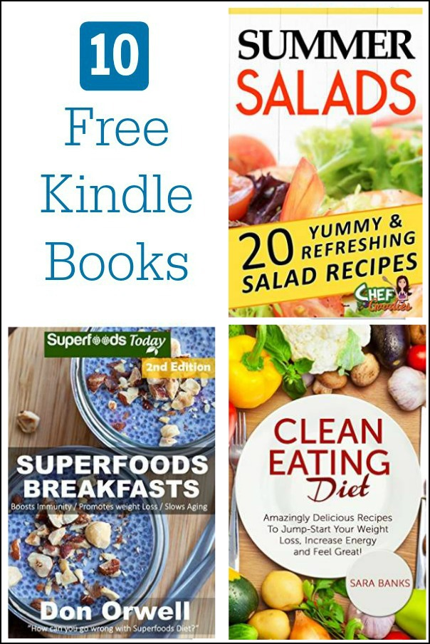10 Free Kindle Cookbooks 6-12-15: There are lots of great free titles on Amazon today. Check out these cookbooks for new ideas in the kitchen.