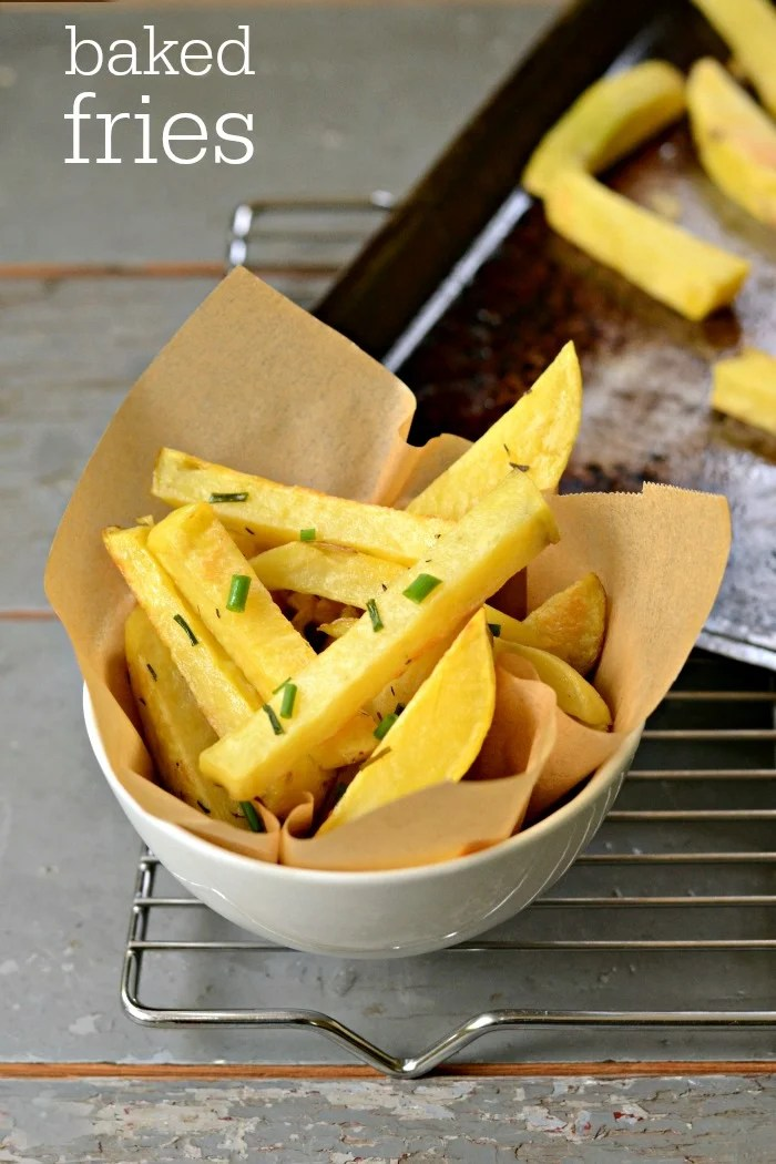 It's so simple to make fries in the oven! These Oven Baked French Fries are a delicious side dish that goes with just about anything. Try this easy, healthy recipe on a busy night.