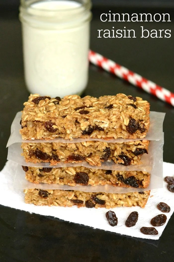 These cinnamon raisin snack bars are the perfect recipe for travel season. At just $.50 a bar, these are a bargain, and they're healthier than store-bought.