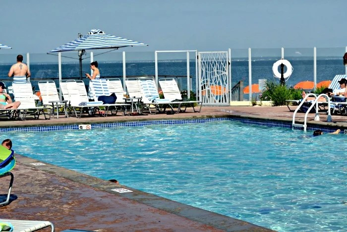 The pools at the Sea Crest overlook Buzzard's Bay.