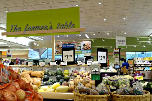 Stop & Shop produce department, a great place for locally sourced fruits and vegetables during the summer