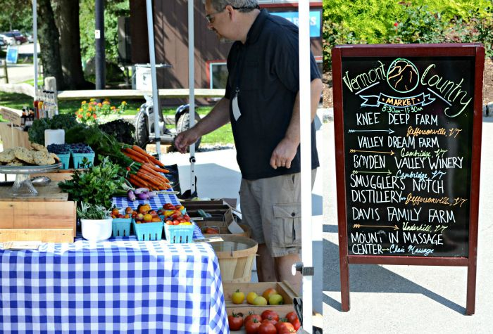 Smugglers' Notch Resort hosts a weekly farmers market in the summer so guests can enjoy local food during their vacation.