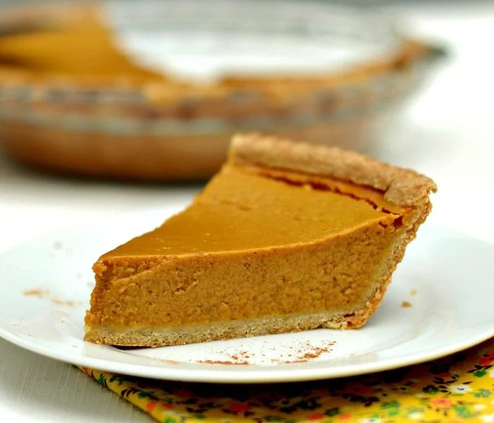 Classic pumpkin pie gets a healthy makeover in this delicious recipe!