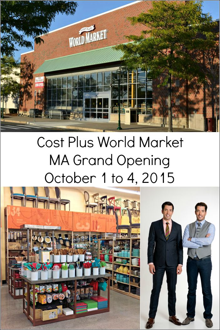 Cost Plus World Market Massachusetts is the first New England location of this store that offers unique international home decor and food items.