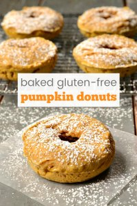 This baked pumpkin donuts recipe is a healthy snack or dessert featuring the flavors of fall. So delicious, and the texture is perfect!