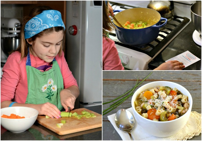 My daughter made this Tuscan soup all by herself with the help of Cooking's Cool. Great holiday gift!
