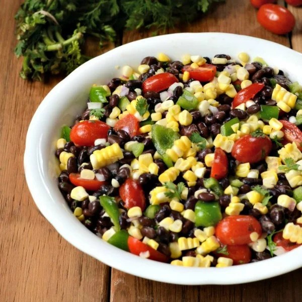 Healthy meals on a budget: black bean corn salad