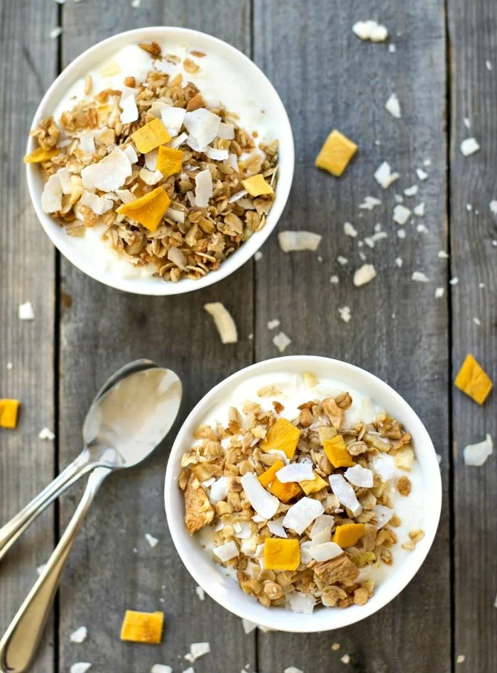 Healthy tropical granola is a sweet, delicious breakfast or snack that will take you to the tropics!