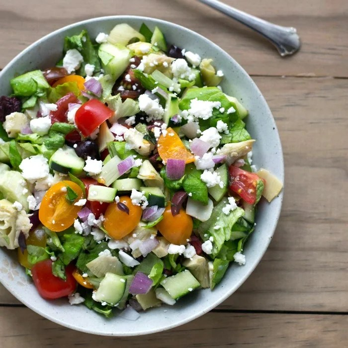 Chopped Greek salad recipe - such a delicious meal any time of year!