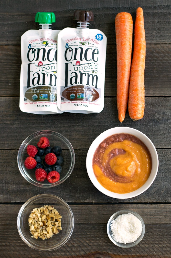 Smoothie bowls are so easy with Once Upon a Farm's healthy pouches.