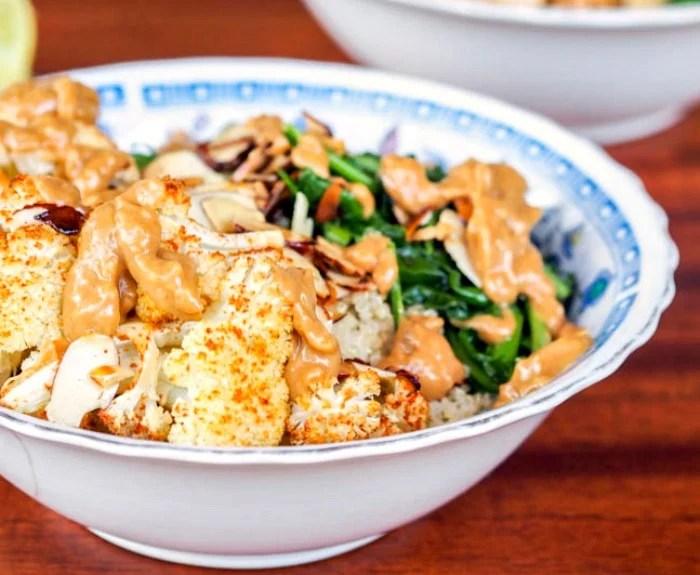 Cauliflower Arugula Bowl
