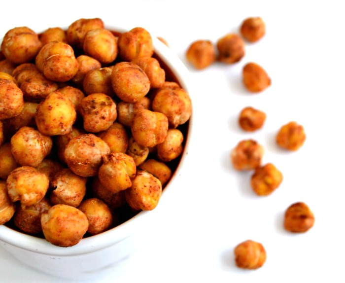 If you're looking for healthy travel snacks, these savory roasted chickpeas are a great place to start!