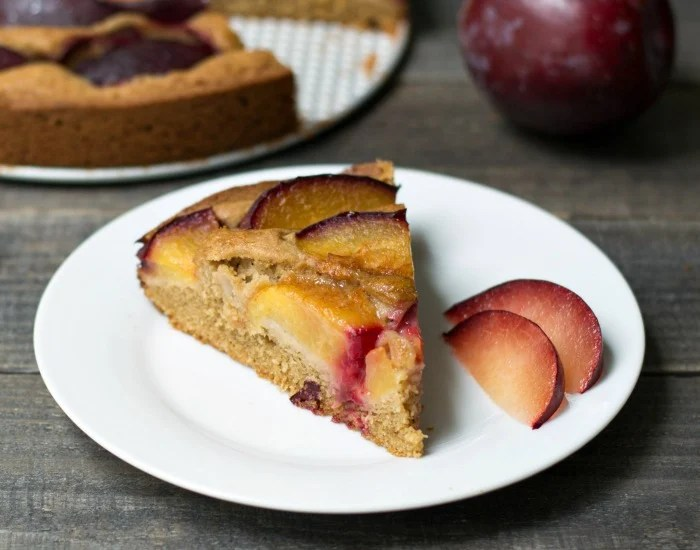 Gluten free plum cake - so delicious!
