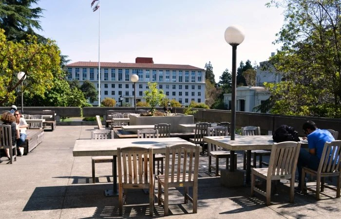 Outdoor dining and locavore food at UC Berkeley's Free Speech Movement Cafe