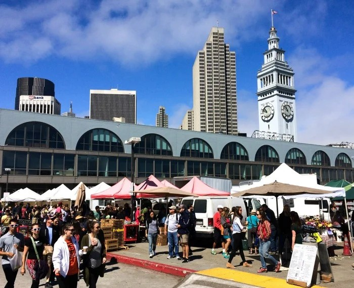 The Saturday morning farmers market at the Ferry Building in San Francisco is quite an event!