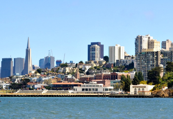 San Francisco's skyline view from the bay