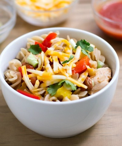 One Pot Chicken Taco Pasta