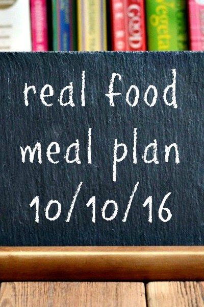 Real Food Meal Plan Week 131