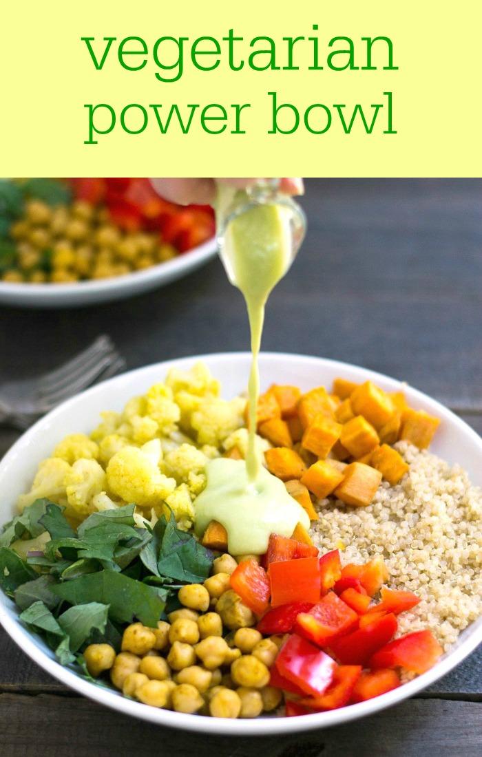 Vegetarian Power Bowl Recipe Real Food Real Deals