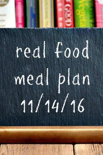Real Food Meal Plan Week 136