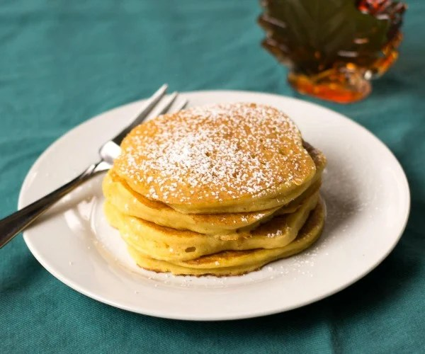 Sweet potato pancakes are a fun and frugal breakfast for dinner!