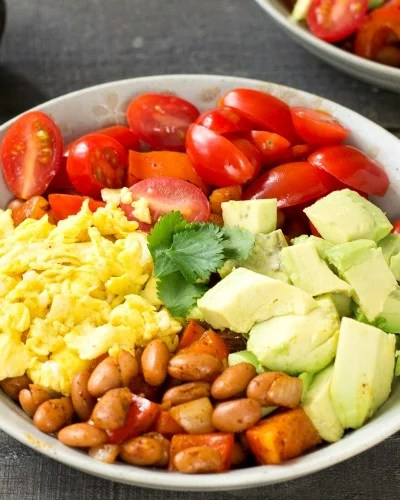 Avocado Breakfast Burrito Bowl