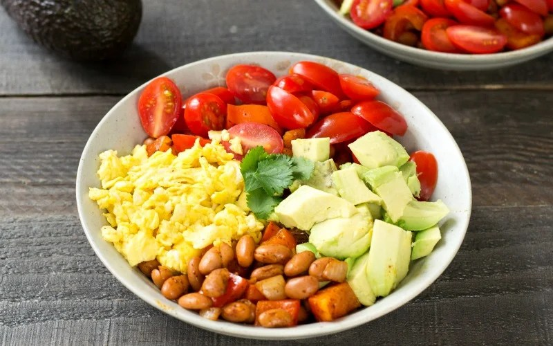 Avocado Breakfast Burrito Bowl