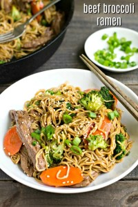 This beef broccoli ramen is a healthy, easy dinner recipe. The gluten-free ramen is so delicious with the beef, broccoli, and seasonings in this dish.