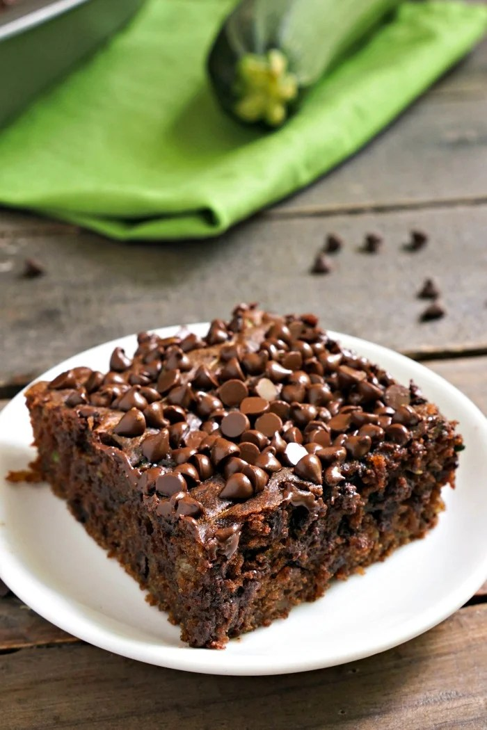 This chocolate zucchini cake is a healthy summer treat that you can feel good about eating. Such a delicious gluten-free dessert recipe!