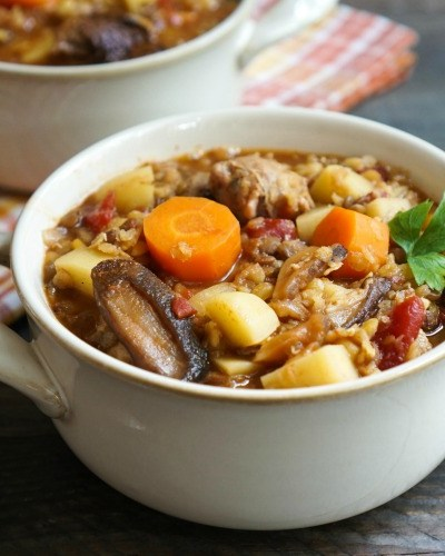 Spicy Fall Sausage Lentil Stew