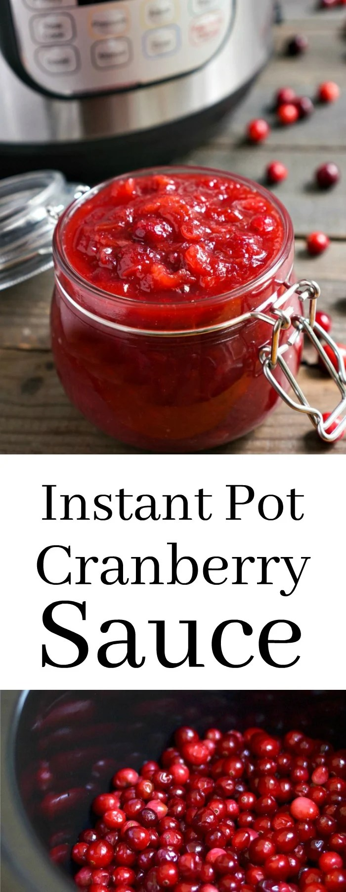 This Instant Pot Cranberry Sauce is a must-have side dish for your Thanksgiving table. Such an easy, healthy holiday recipe!