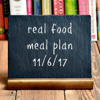 Real Food Meal Plan Week 170