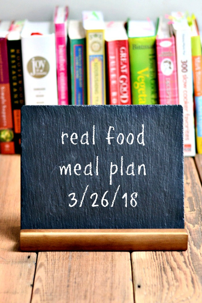 Real Food Meal Plan Week 173 includes healthy, family-friendly dinner recipes. Spring veggies are on the menu this week!