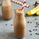 This healthy chocolate milkshake recipe is my version of a homemade Frosty. It's easy, delicious vegan dessert drink without the guilt. (vegan, gluten-free)