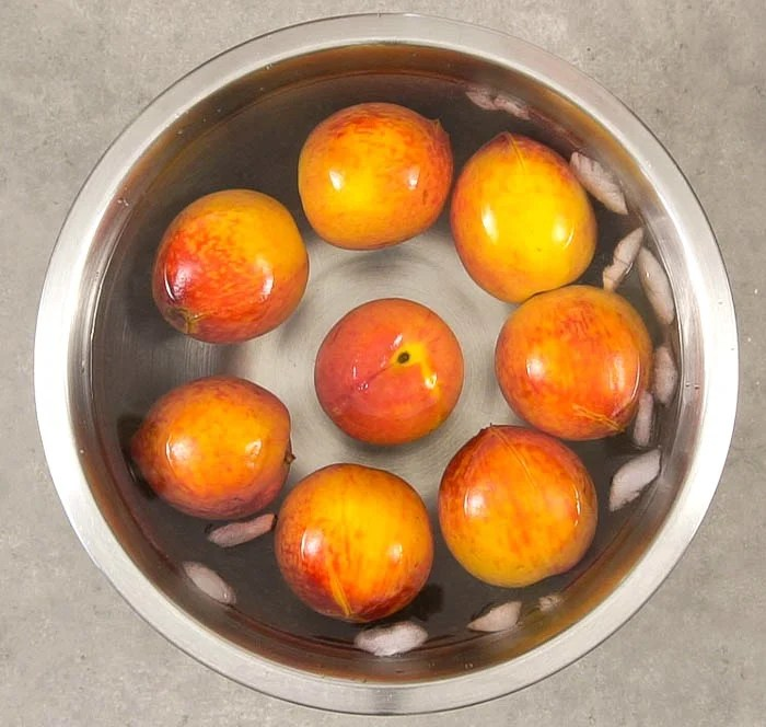 This is the easiest way to peel peaches!