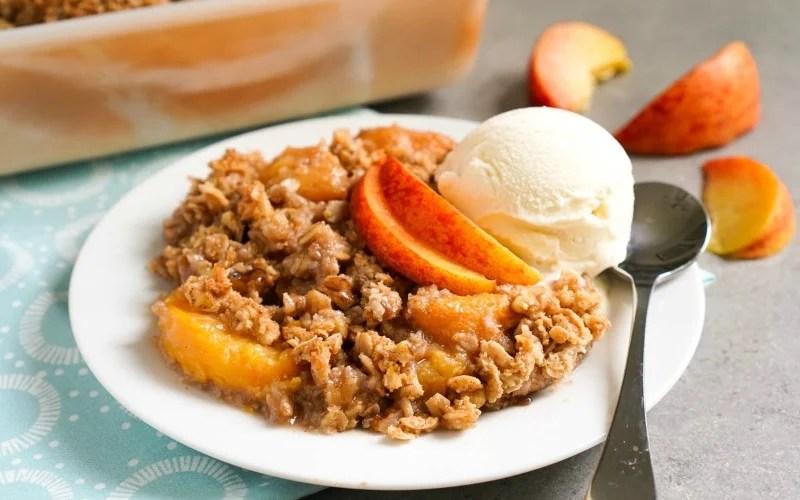 Peach Oatmeal Crisp