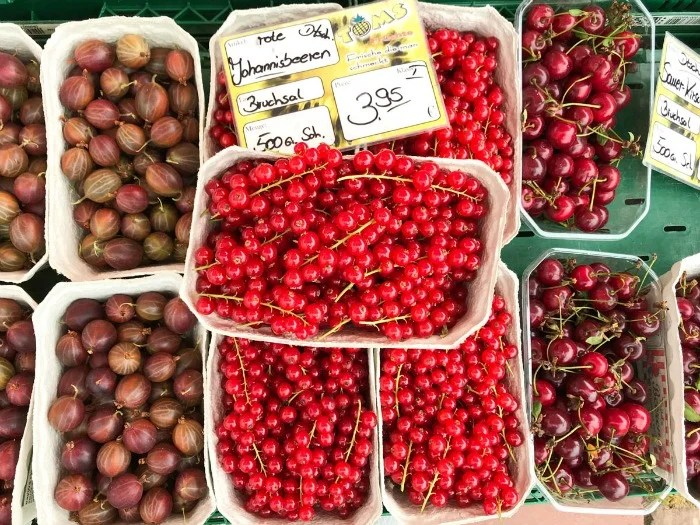 Markets throughout Germany feature fresh local produce all summer long.