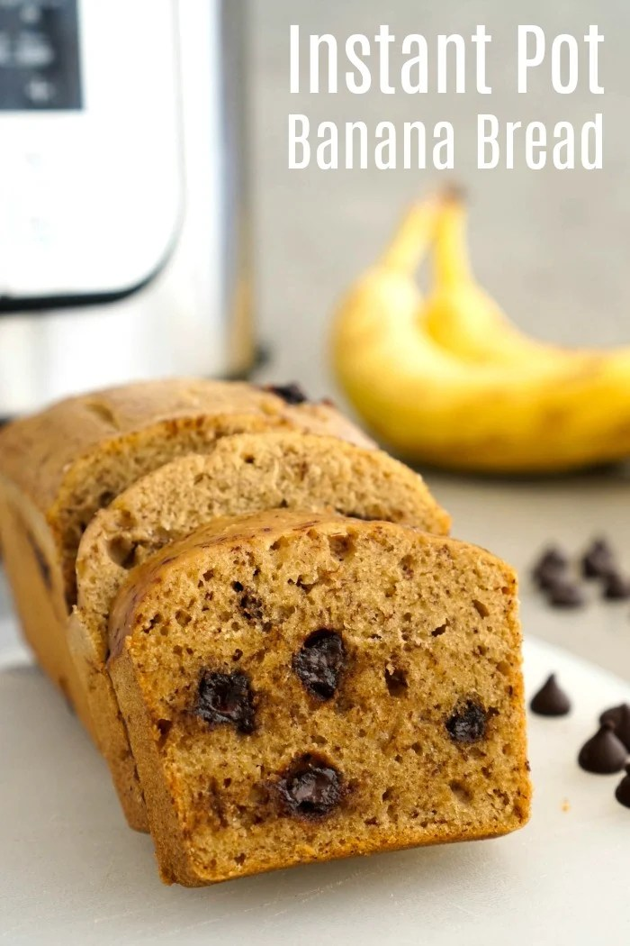 "This Instant Pot banana bread tastes just like oven-baked banana bread. Use the ""pot in pot"" Instant Pot cooking method to get perfect gluten-free, dairy-free banana bread every time!"