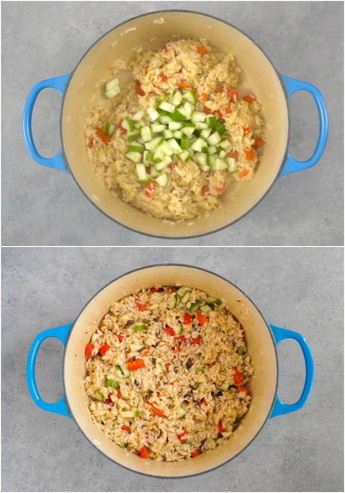 This lemon Mediterranean rice can be made on the stove or in the Instant Pot.