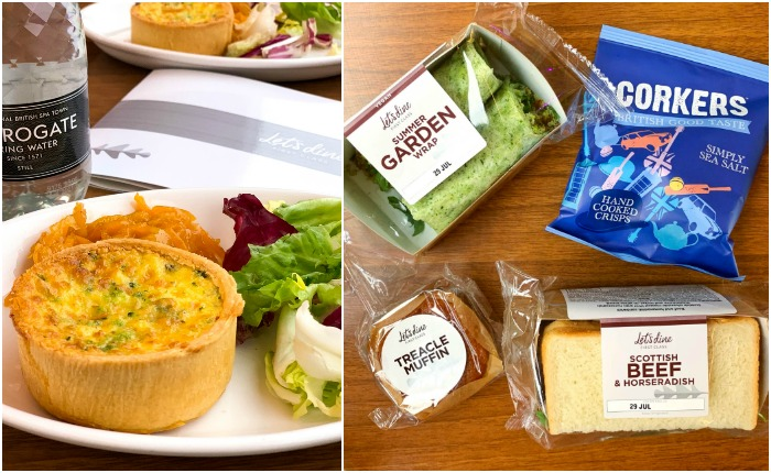 Locally sourced food is featured on the LNER train, highlighting famous food in England