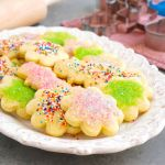 Gluten free dairy free sugar cookies on a platter