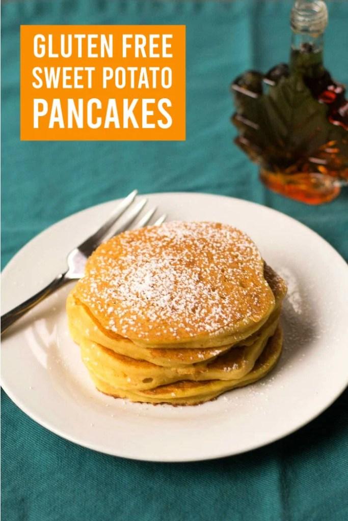 Gluten free sweet potato pancakes are a great breakfast.