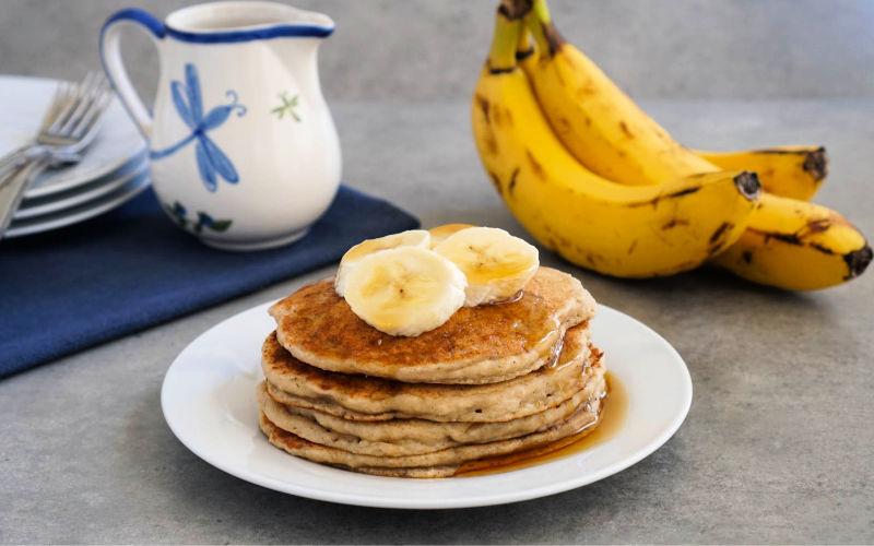 Vegan Banana Oat Pancakes – Real Food Real Deals