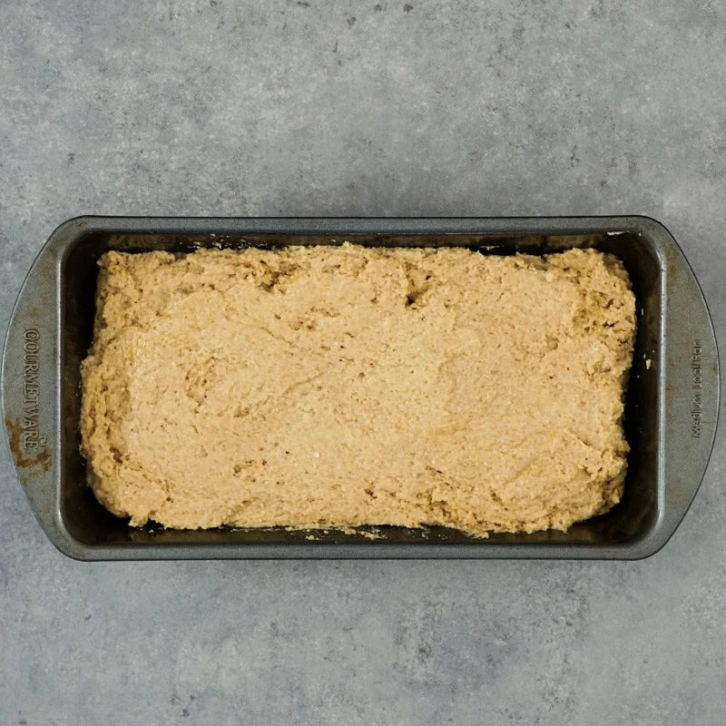 Bread in pan before baking